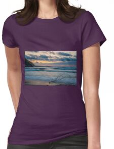 A branch lying at seashore Womens Fitted T-Shirt