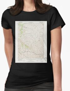USGS Topo Map Oregon Westfall Butte 283014 1966 62500 Womens Fitted T-Shirt