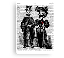 Calavera Couple Canvas Print