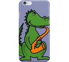 Cool Alligator Playing Saxophone iPhone Case/Skin