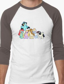 Ponified Princess Men's Baseball ¾ T-Shirt