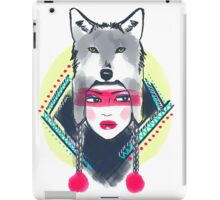 Girl with wolf hat iPad Case/Skin