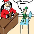 Santa works hard 3 by Robin Taylor