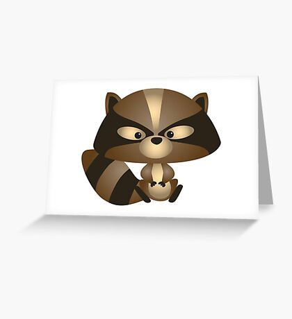 Chibi Racoon Greeting Card
