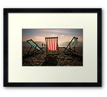 Evening walk on the beach Framed Print