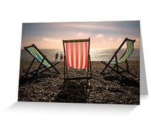 Evening walk on the beach Greeting Card