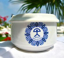 Ceramic ashtray - with lucky Indalo of Spain by Indalo