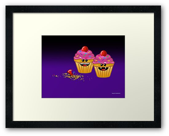CUPCAKE CANNIBALS ART by peter chebatte