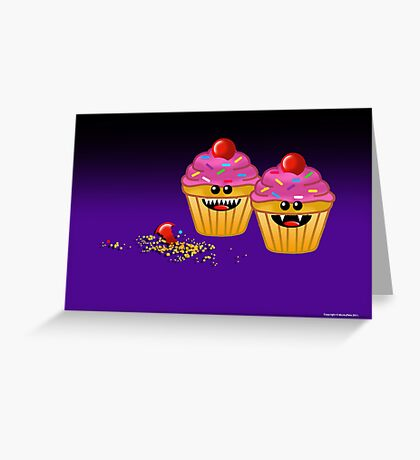 CUPCAKE CANNIBALS ART Greeting Card