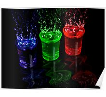 Coloured Splash shots Poster