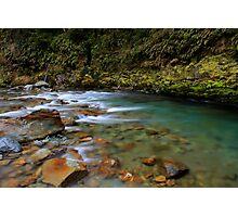 Turquoise flow Photographic Print