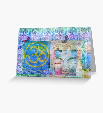 Om  Buddha tree nature art Greeting Card