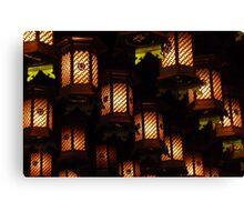 Henjokutsu Cave lamps, Japan Canvas Print