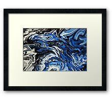 Blue Acrylic Overflow Framed Print