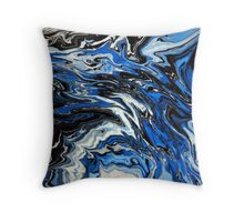 Blue Acrylic Overflow Throw Pillow