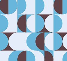 Winter colored 60ies retro circles by UDDesign