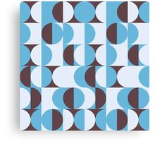 Winter colored 60ies retro circles Canvas Print