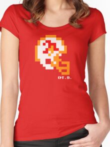 Tecmo Bowl - Tampa Bay Buccaneers - 8-bit - Mini Helmet shirt Women's Fitted Scoop T-Shirt