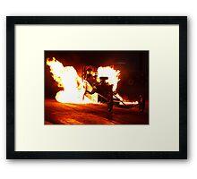 Flaming Burnout at Dragstalgia, Santa Pod Framed Print