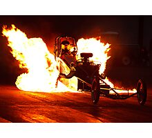 Flaming Burnout at Dragstalgia, Santa Pod Photographic Print