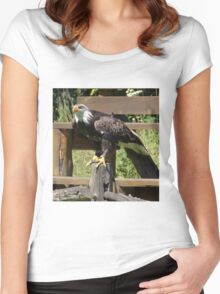 Powerful Eagle Women's Fitted Scoop T-Shirt