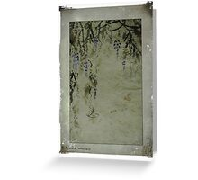 The beauty of wisteria Greeting Card