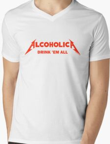 Alcoholica Mens V-Neck T-Shirt