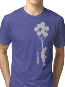 Banksy - Little girl with balloons Tri-blend T-Shirt