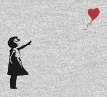Banksy - Little girl with red balloon Baby Tee