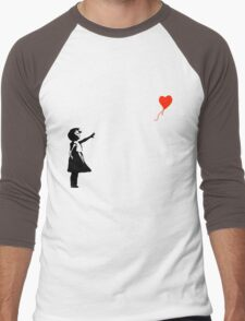 Banksy - Little girl with red balloon Men's Baseball ¾ T-Shirt