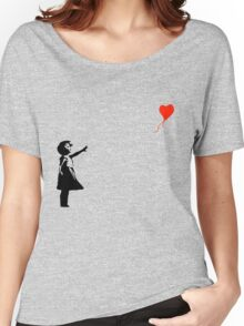 Banksy - Little girl with red balloon Women's Relaxed Fit T-Shirt