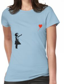 Banksy - Little girl with red balloon Womens Fitted T-Shirt