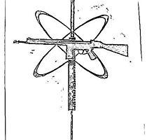 gun syringe cross print by visceralrevolt