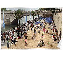 Paris plage Poster