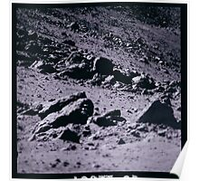 Apollo Archive 0097 Moon Rock Field on Lunar Surface Poster