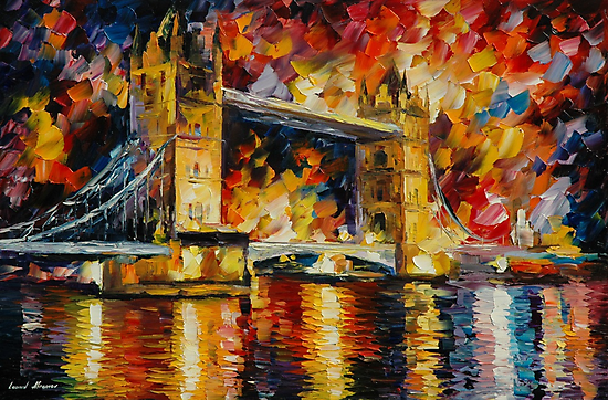 LONDON BRIDGE - LEONID AFREMOV by Leonid  Afremov