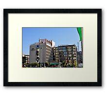 building & reflections Framed Print