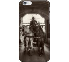 Carriage under the arcade iPhone Case/Skin