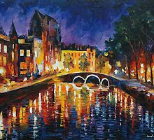 THOUGHTFUL AMSTERDAM - LEONID AFREMOV by Leonid  Afremov