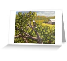eagle and the black bird Greeting Card