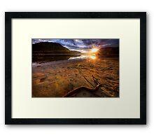 Sunset Compass Framed Print