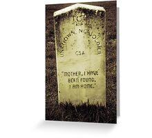 Unknown Soldier Greeting Card