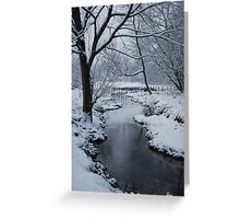 Yankee Hill Stream, In Winter Greeting Card
