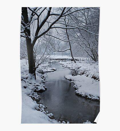 Yankee Hill Stream, In Winter Poster