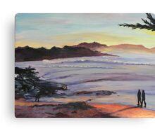 Carmel Peachy Sunset Painting Canvas Print