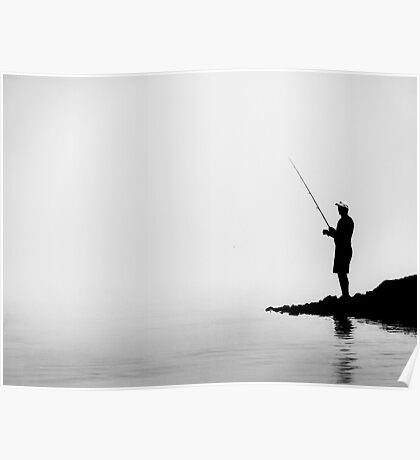 Fisherman in the Fog Poster
