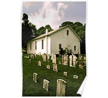 Malachai Church and Cemetary in PA Poster