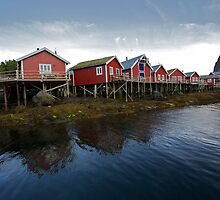 Reine Rorbuer . Lofoten Islands .  Norway . by Brown Sugar . Views (98) thx ! by © Andrzej Goszcz,M.D. Ph.D