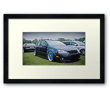 MK5 Golf On Blue BBS Framed Print