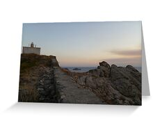 Climbing The Castle Greeting Card